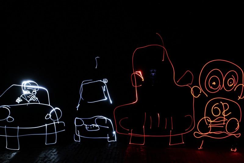 Pope, Diana, DaveAstur, Frodo. (Foto: Jorge Echeverría)
