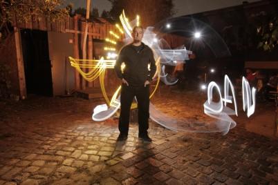 Foto: Sfhir. Lightpainting: Sfhir. Model: Dan Chick