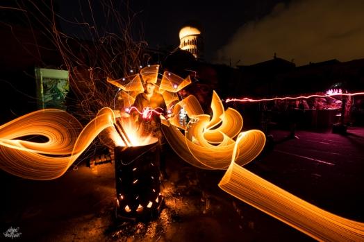 Teulenberg. Foto: Frodo DKL, lightpainters: Stabeau Light, model: someone at Telulenberg