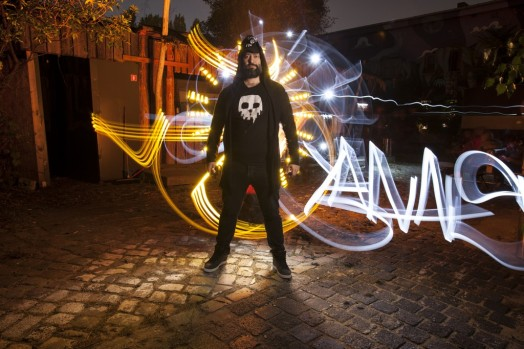 Foto: Sfhir. Lightpainting: Sfhir. Model: Jannis Sid