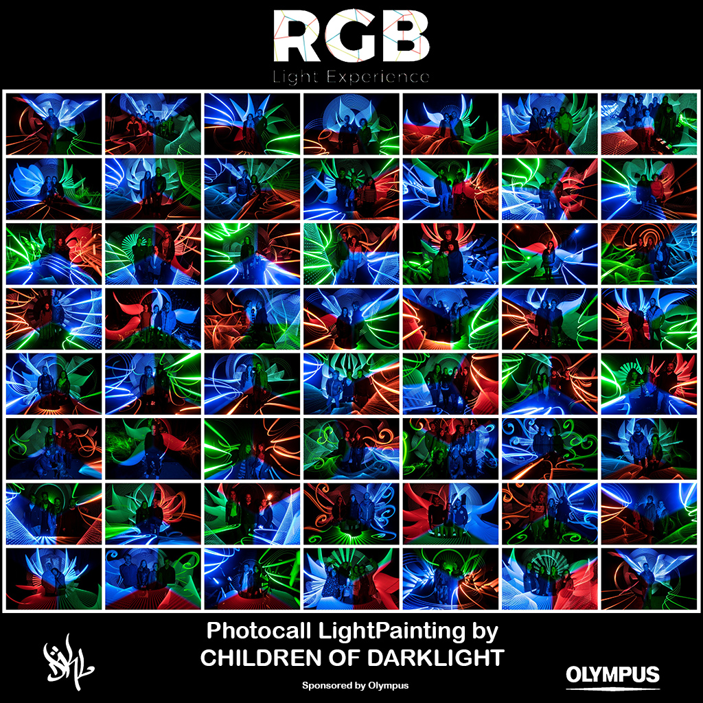 Photocall Lightpainting by Children of Darklight. RGB LIGHT EXPERIENCE 2017