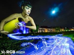 RGB LIGHT EXPERIENCE. MONULIGHT BY DKL. NINFA DELL' ACQUA