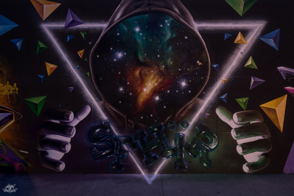 Graffiti artist: Sfhir; Lightpainters: Frodo DKL & Sfhir