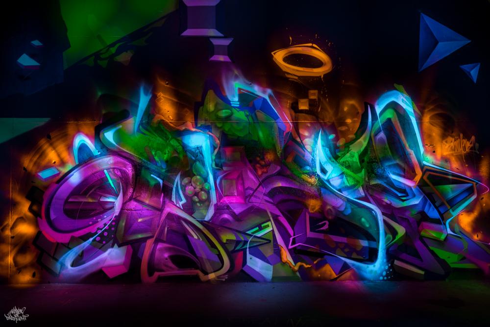 Graffiti artist: @heliobray; Lightpainters: Frodo DKL & Sfhir