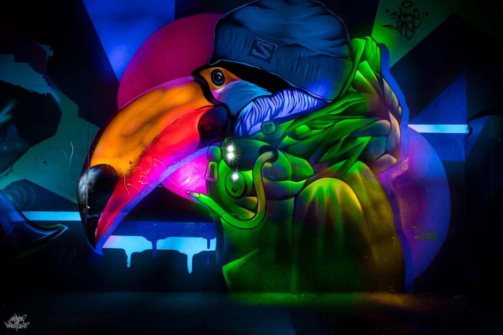 Graffiti artist: @sake_lafamily; Lightpainters: Frodo DKL & Sfhir