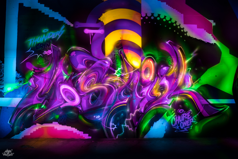 Graffiti artist: @chureoner; Lightpainters: Frodo DKL & Sfhir