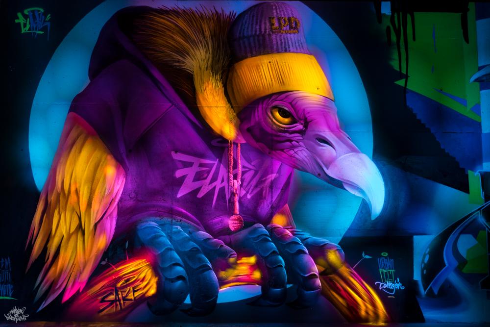 Graffiti artist: @elalfil_; Lightpainters: Frodo DKL & Sfhir