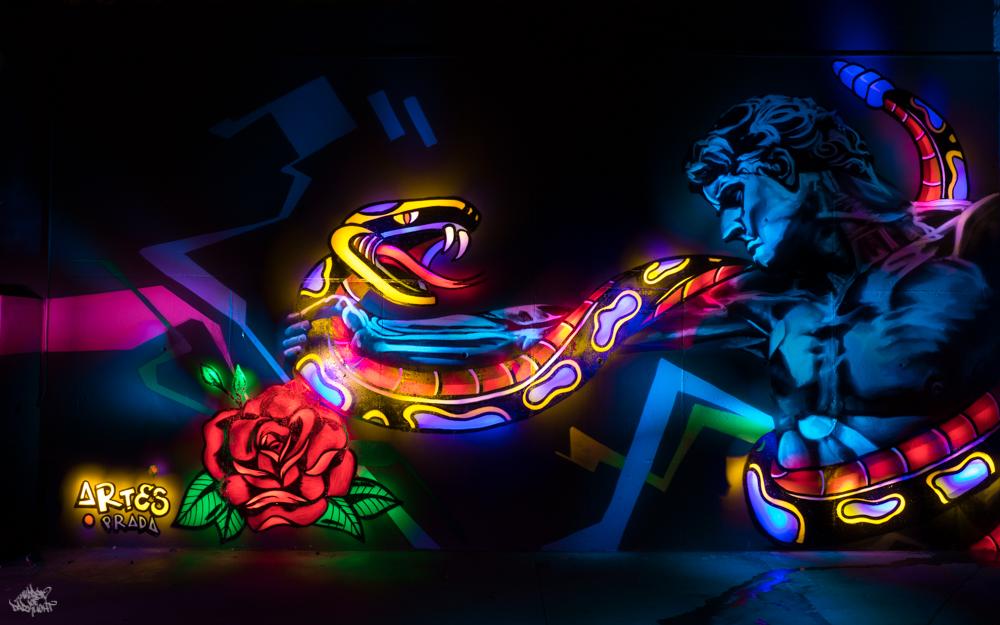 Graffiti artist: @artesprada; Lightpainters: Frodo DKL & Sfhir