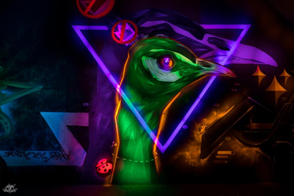 Graffiti artist: @ele_man_1; Lightpainters: Frodo DKL & Sfhir