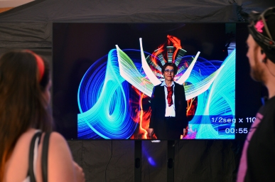 Olympus Lightmob 2018. Photocall Light Painting. Foto: Javier Jiménez