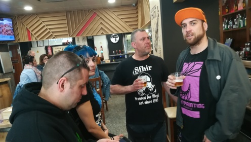 Edu Cajigal, Patry Diez, Iván Barco y Frodo DKL