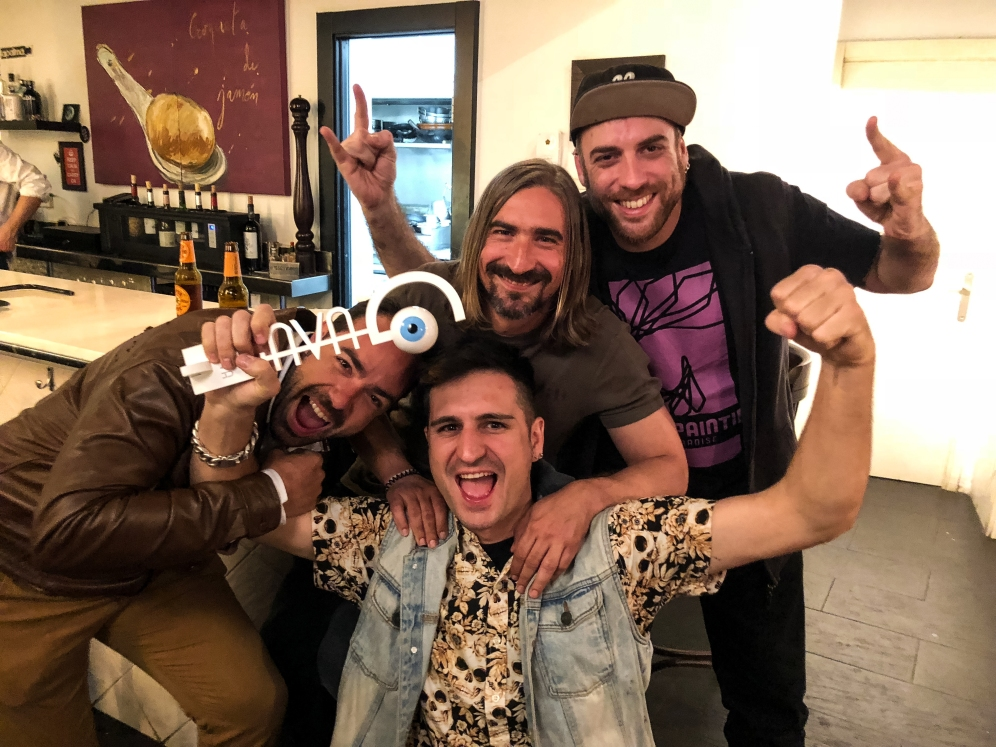 III Premios GAVA 2018. Rubén Campos, Sfhir, Kike Glez y Frodo DKL