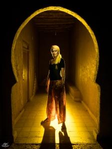 LIGHTPAINTERSUNITED #3 MERZOUGA MEETING 2018. Photo: Frodo DKL (Children of Darklight). Model: Kim Von Coels.